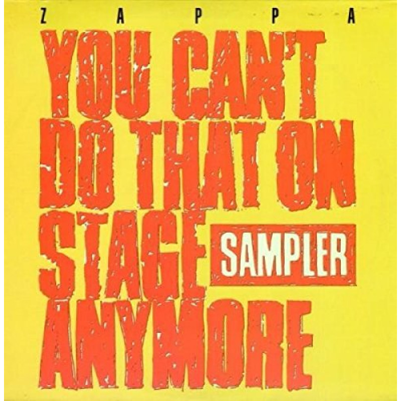 YOU CAN'T DO THAT ON STAGE ANYMORE (SAMPLER) / YELLOW / LTD / RSD
